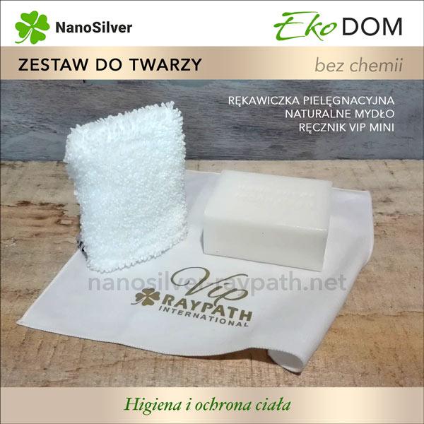 Rękawiczka mydło ręcznik z nanosrebrem do twarzy raypath