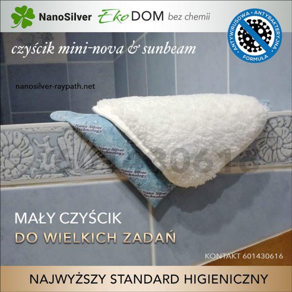 nanaosilver ekologiczny czyścik mini-nova do czyszczenia łazienki raypath